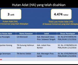 KSDAE; 4.474 Ha Telah Di tetapkan Sebagai Kawasan Hutan Adat Di Dalam Kawasan Konservasi di Indonesia